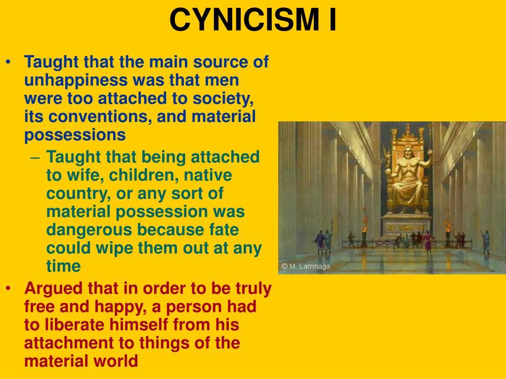 CYNICISM I