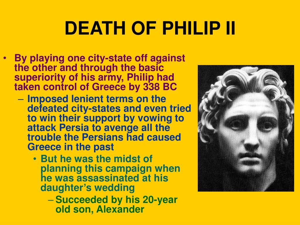 DEATH OF PHILIP II