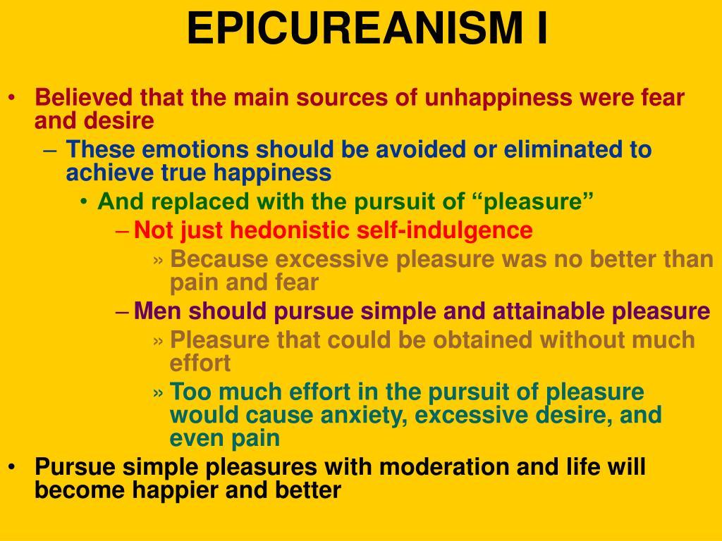 EPICUREANISM I