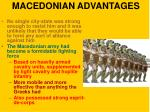 macedonian advantages