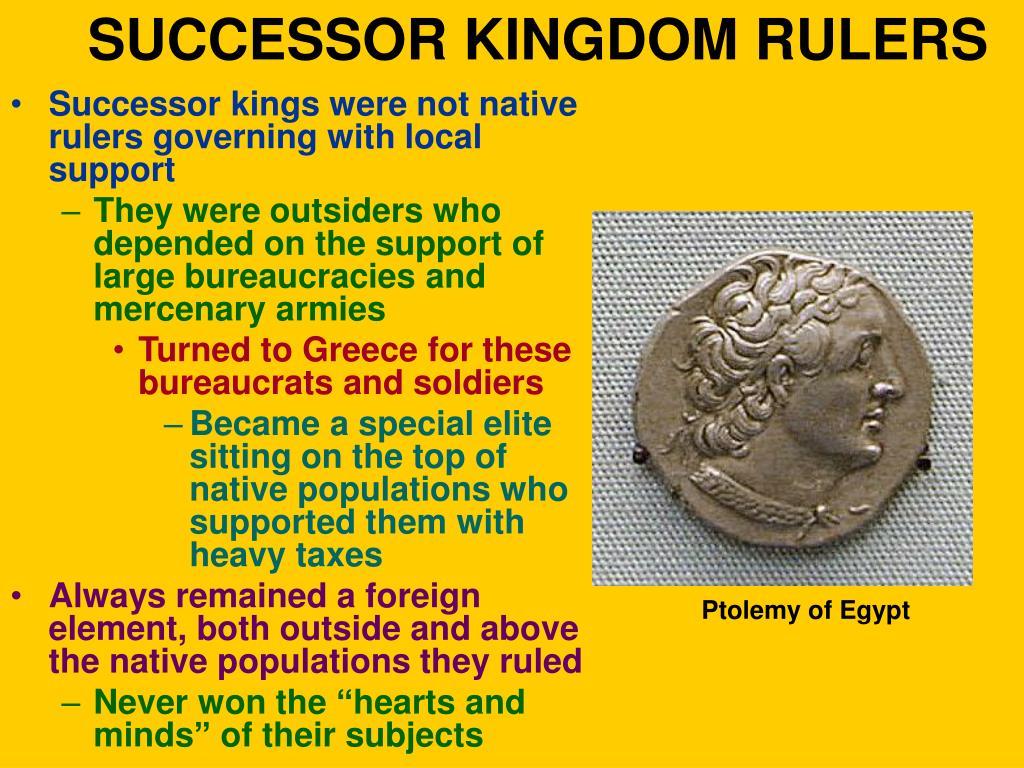 SUCCESSOR KINGDOM RULERS