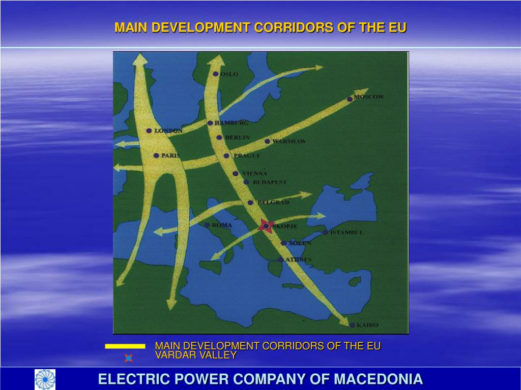 MAIN DEVELOPMENT CORRIDORS OF THE EU