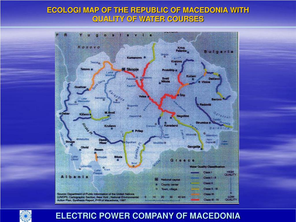 ECOLOGI MAP OF THE REPUBLIC OF MACEDONIA WITH