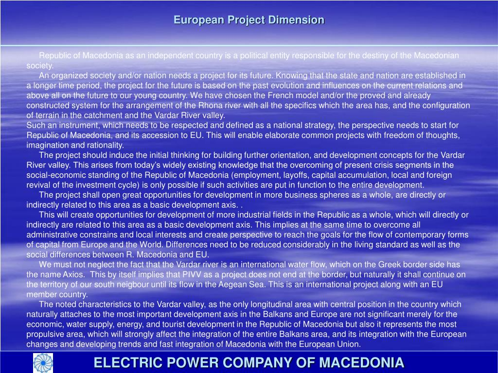 European Project Dimension