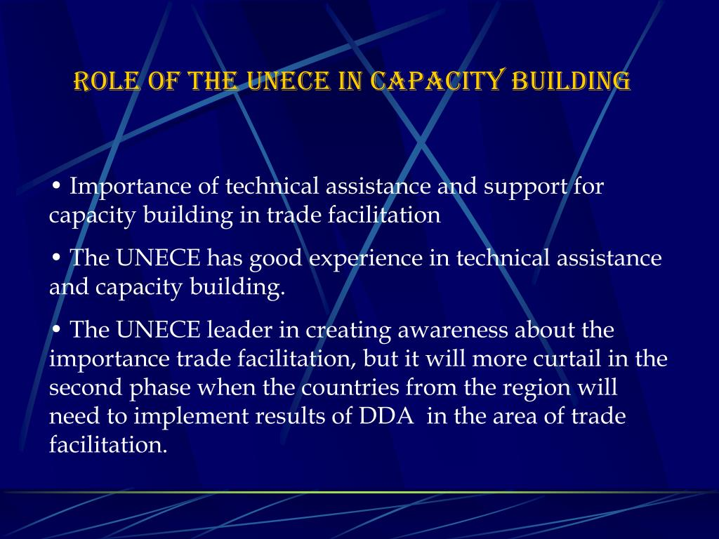 ROLE OF THE UNECE IN CAPACITY BUILDING