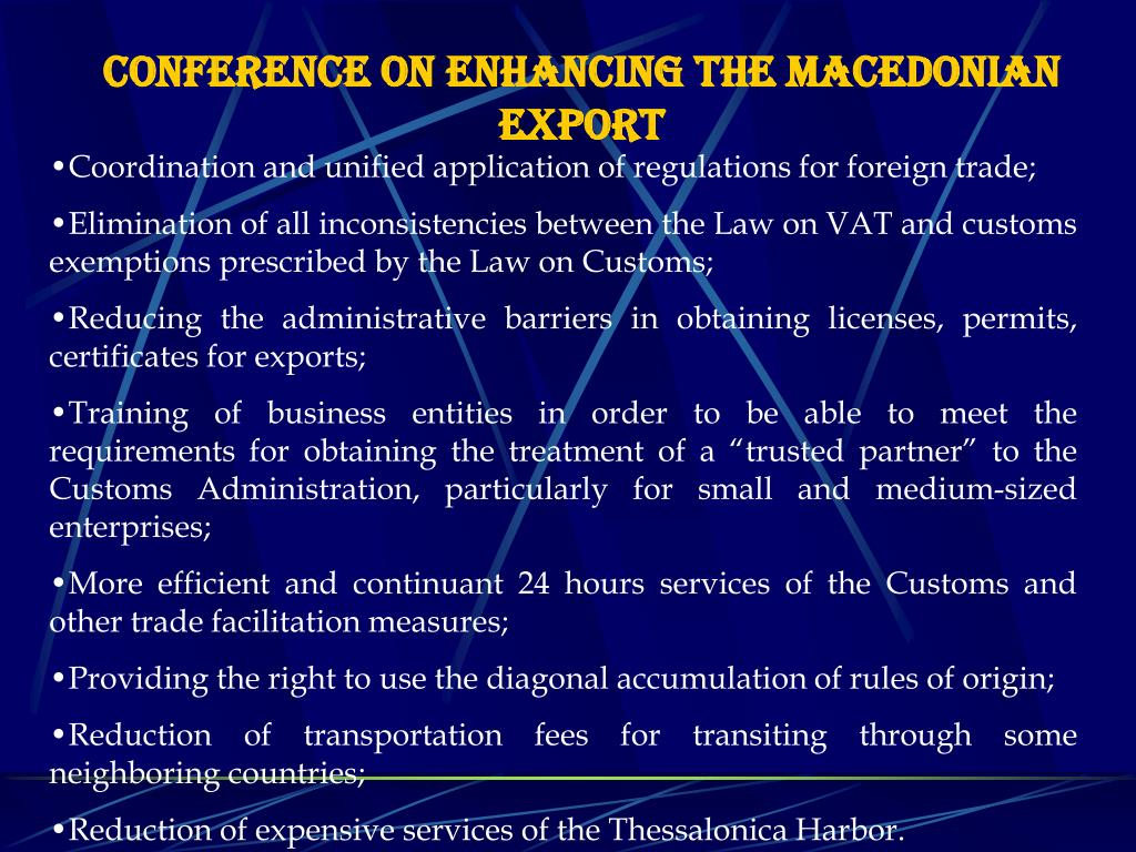 Conference on enhancing the Macedonian export