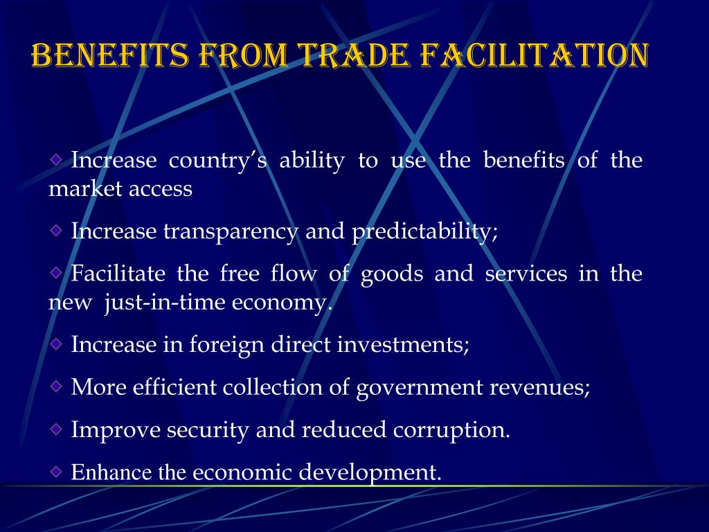 BENEFITS FROM TRADE FACILITATION