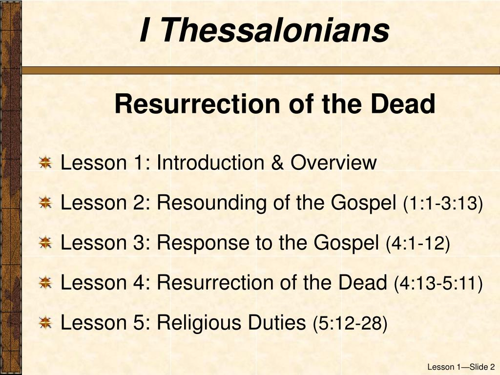 I Thessalonians