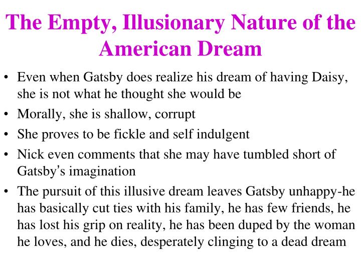 A discussion on the nature of the american dream