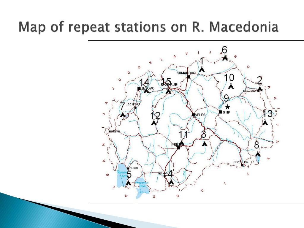 Map of repeat stations on R. Macedonia