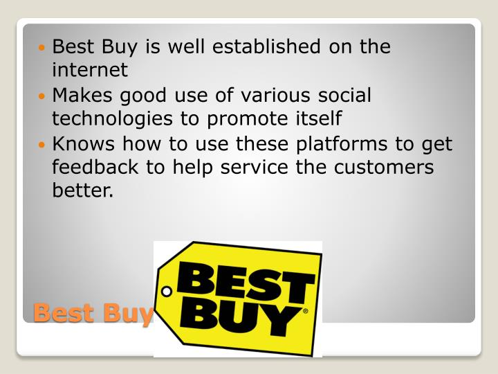 Best Buy is well established on the internet