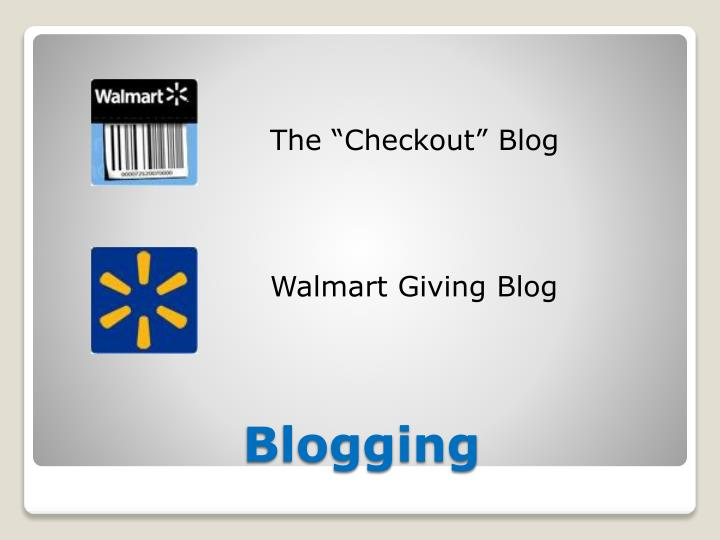 "The ""Checkout"" Blog"