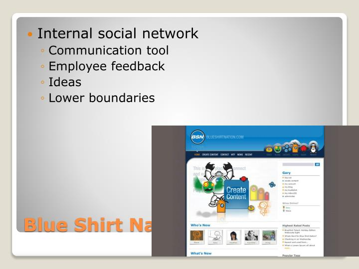 Internal social network