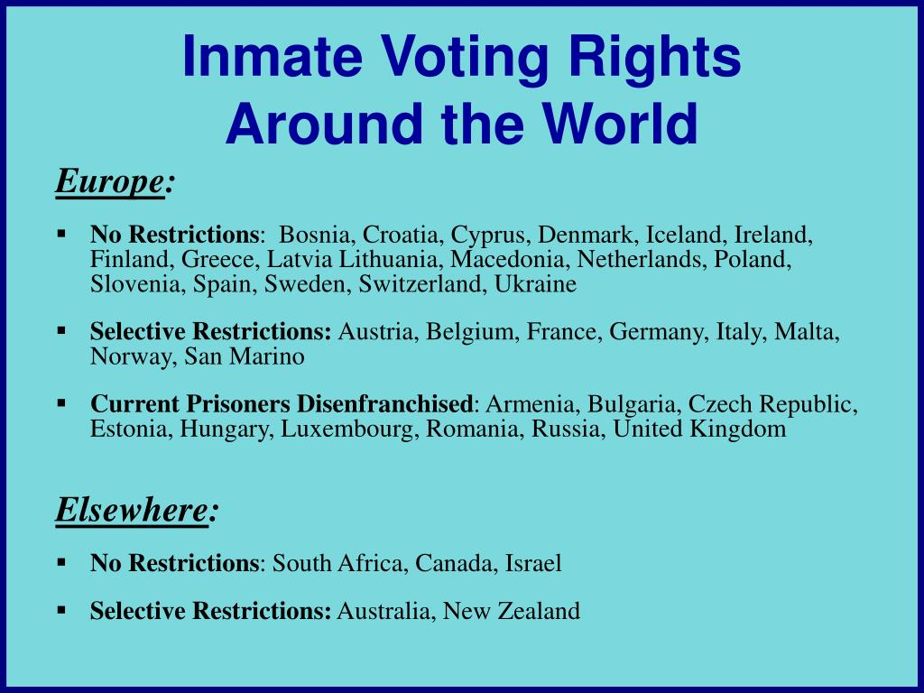 Inmate Voting Rights