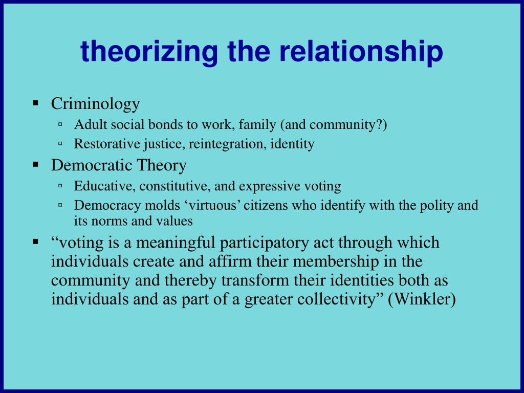 theorizing the relationship