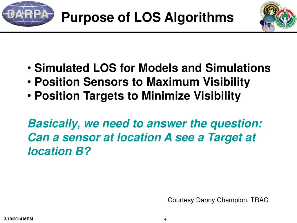 Purpose of LOS Algorithms