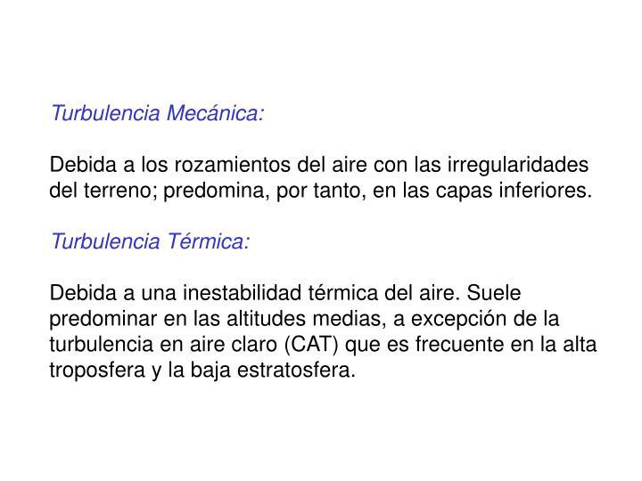 Turbulencia Mecánica: