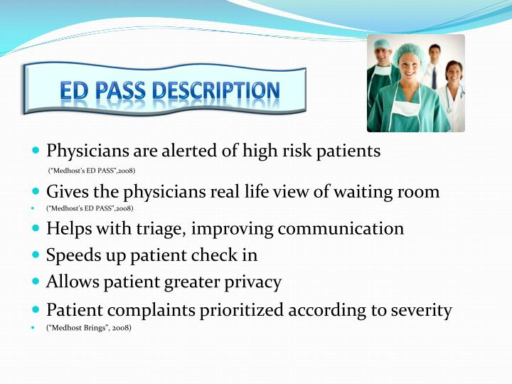 ED PASS description