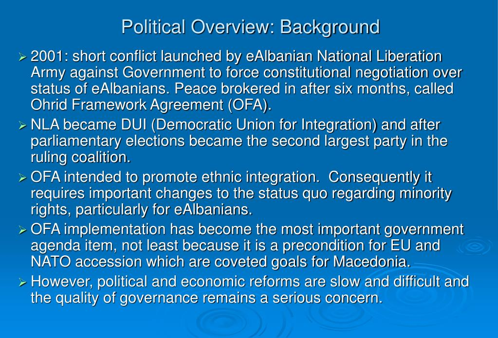Political Overview: Background