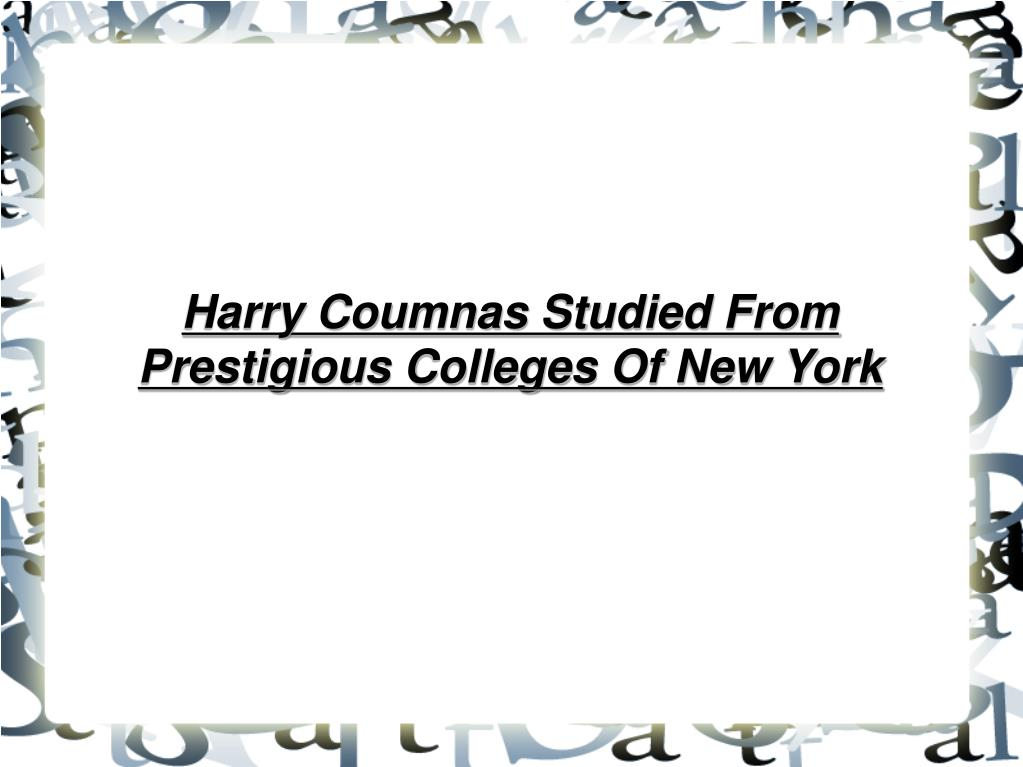 Harry Coumnas Studied From Prestigious Colleges Of New York