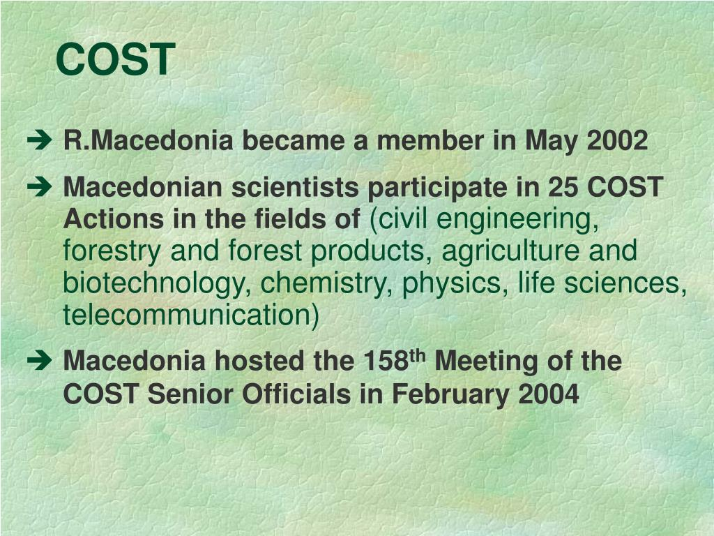 R.Macedonia became a member in May 2002