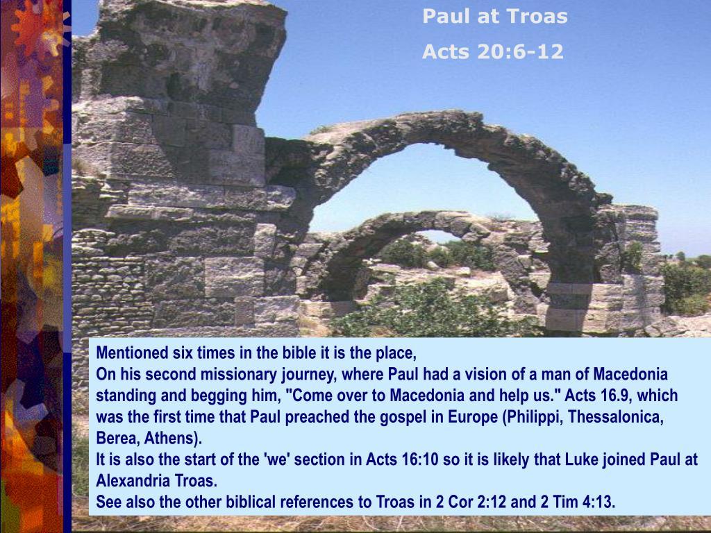 Paul at Troas