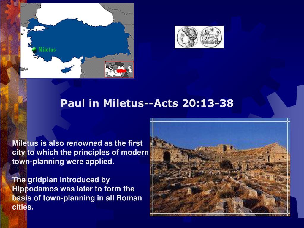 Paul in Miletus--Acts 20:13-38