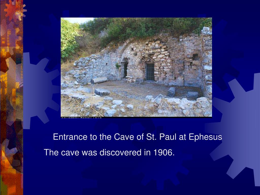 Entrance to the Cave of St. Paul at Ephesus
