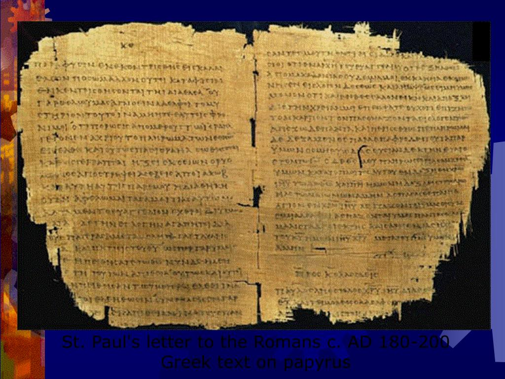 St. Paul's letter to the Romans c. AD 180-200