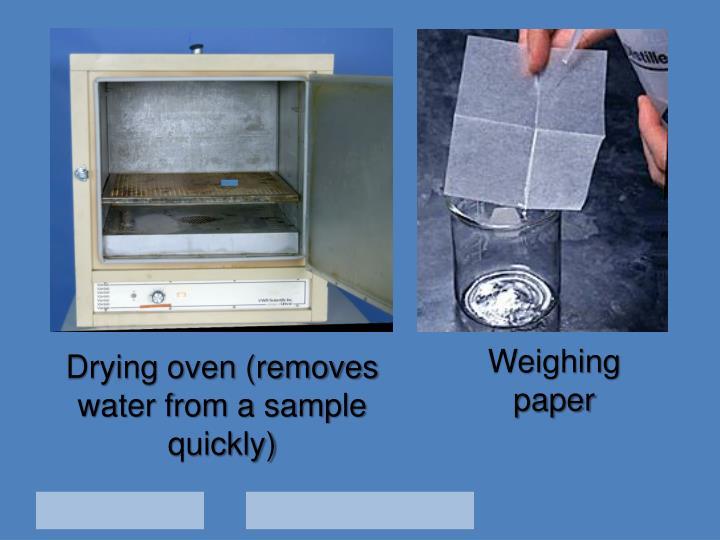 Weighing paper