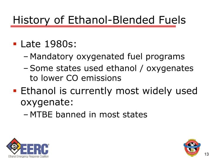 History of Ethanol-Blended Fuels
