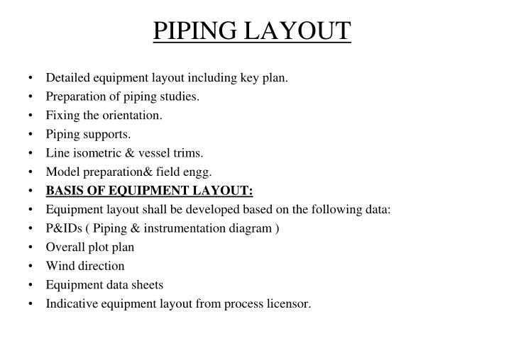 PIPING LAYOUT