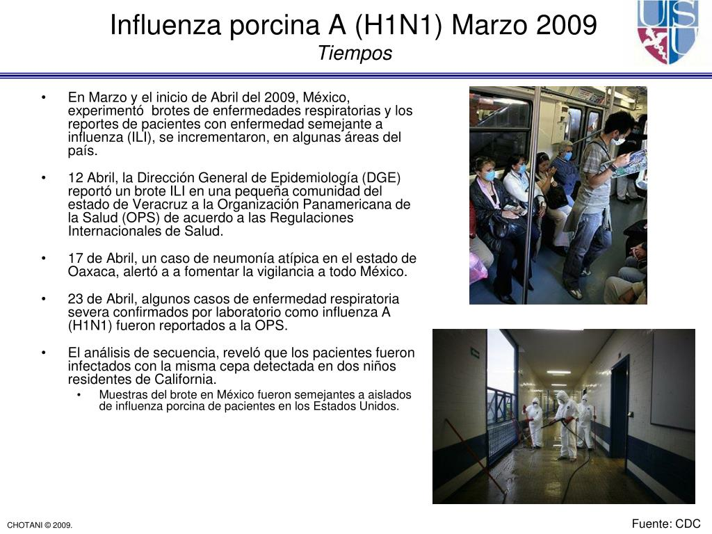 En Marzo y el inicio de Abril del 2009, México, experimentó  brotes de enfermedades respiratorias y los reportes de pacientes con enfermedad semejante a influenza (ILI), se incrementaron, en algunas áreas del país.