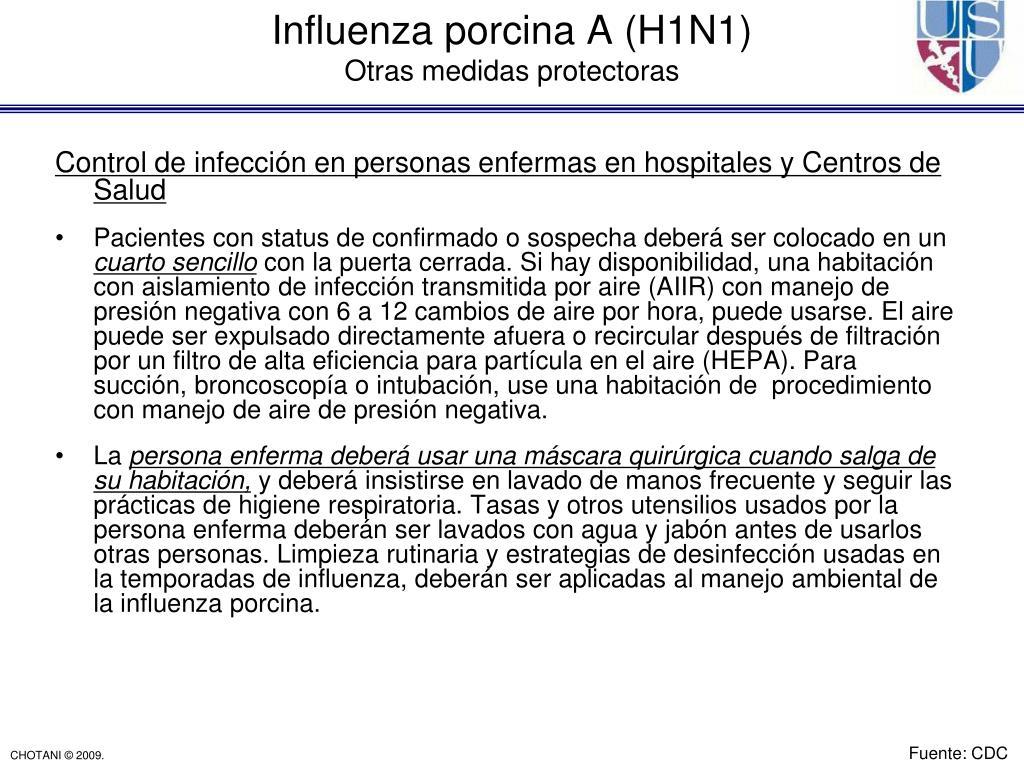 Control de infección en personas enfermas en hospitales y Centros de Salud