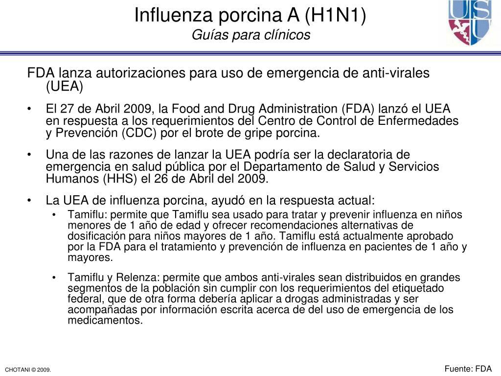 FDA lanza autorizaciones para uso de emergencia de anti-virales (UEA)