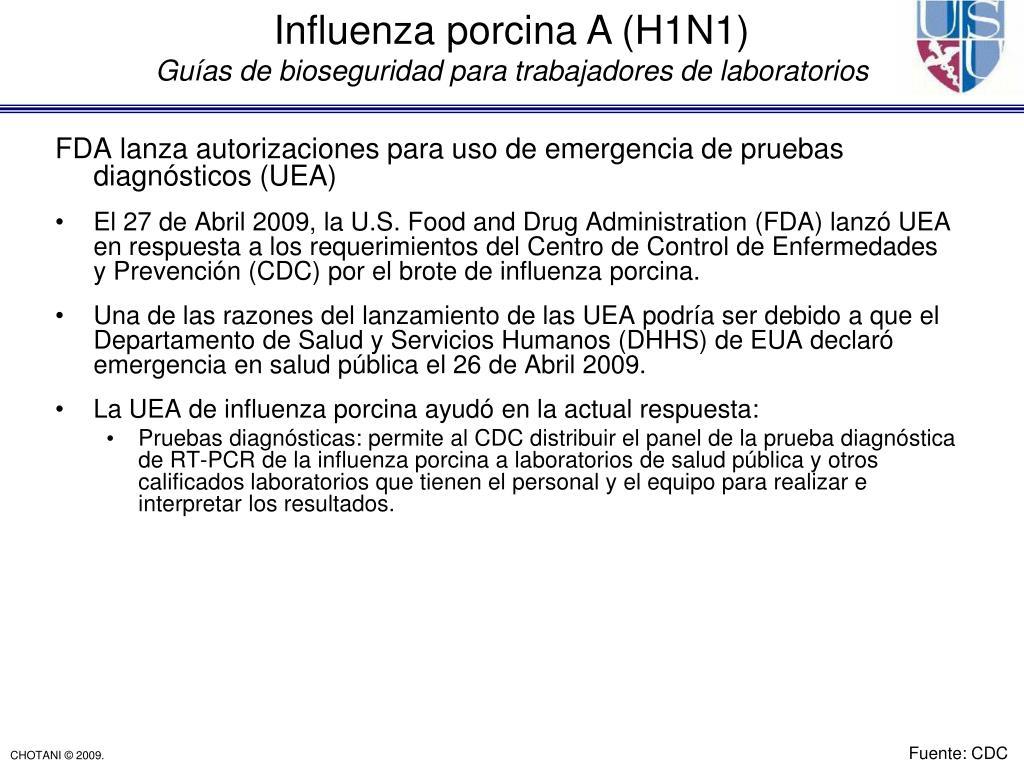 FDA lanza autorizaciones para uso de emergencia de pruebas diagnósticos (UEA)