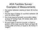 ada facilities survey examples of measurements