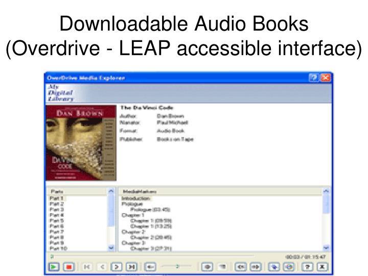 Downloadable Audio Books