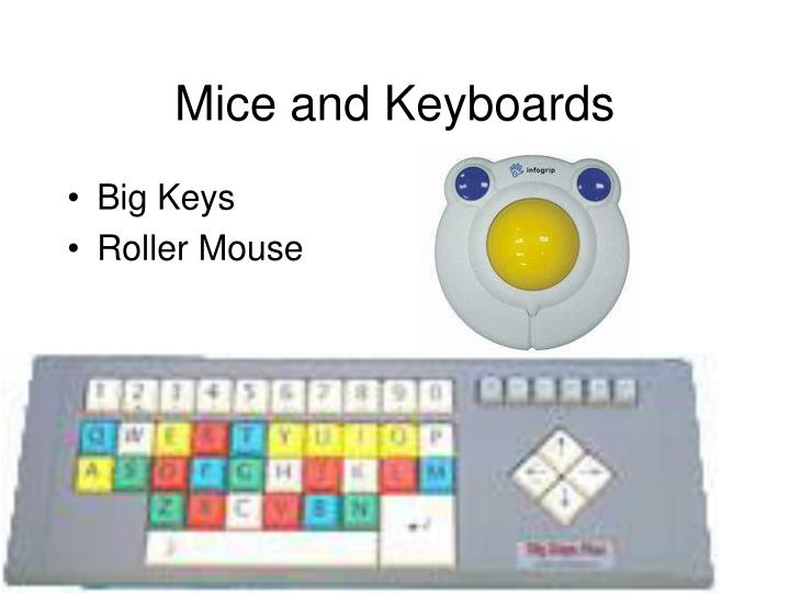 Mice and Keyboards