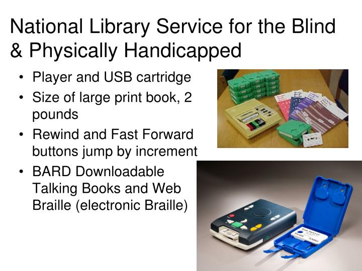 National Library Service for the Blind & Physically Handicapped