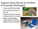 national library service for the blind physically handicapped