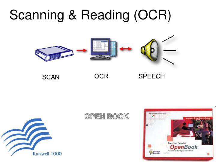 Scanning & Reading (OCR)
