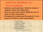 indeed an abundance of process models