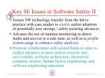 key se issues in software safety ii