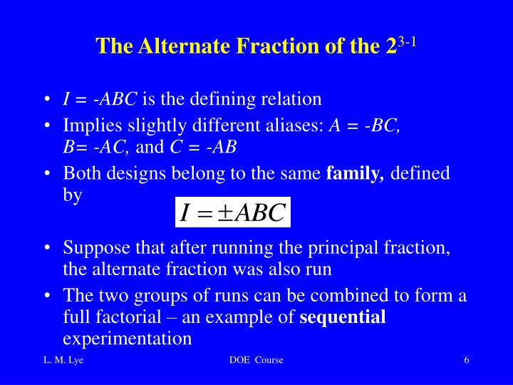 The Alternate Fraction of the 2