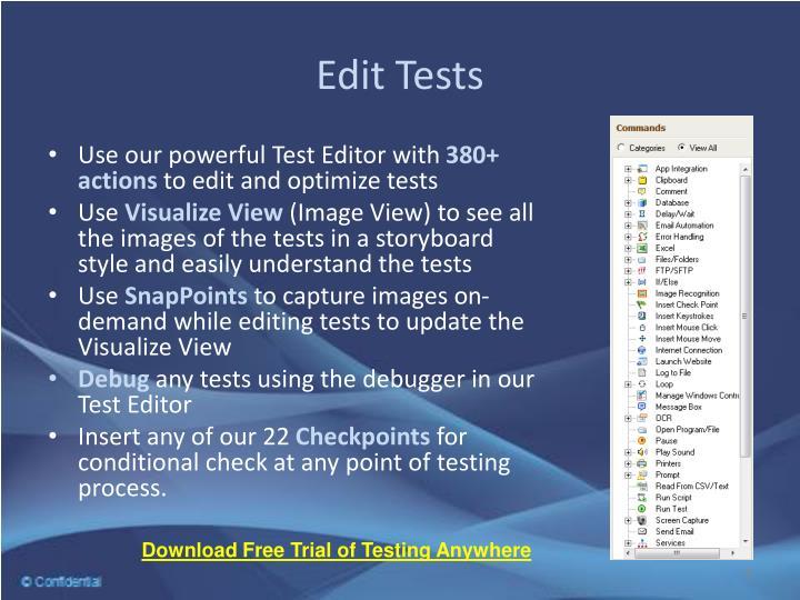 Edit Tests