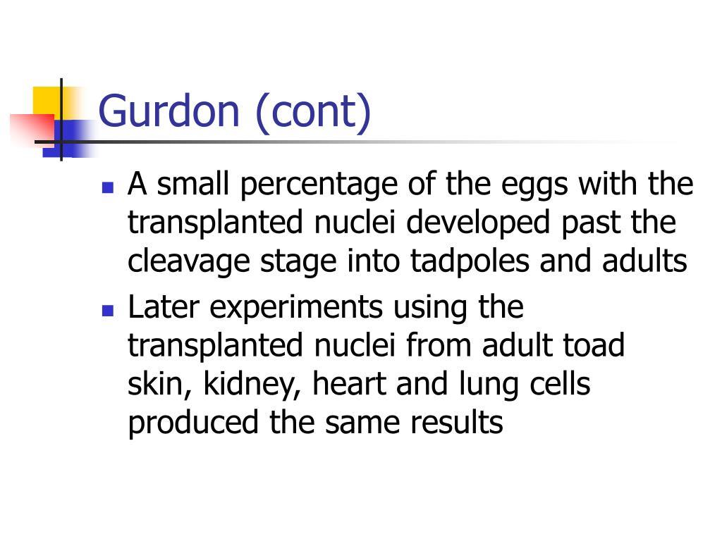Gurdon (cont)