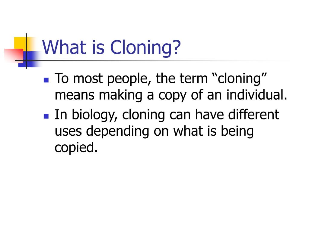 What is Cloning?