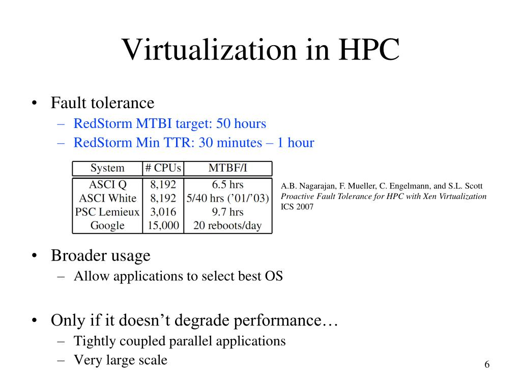 Virtualization in HPC