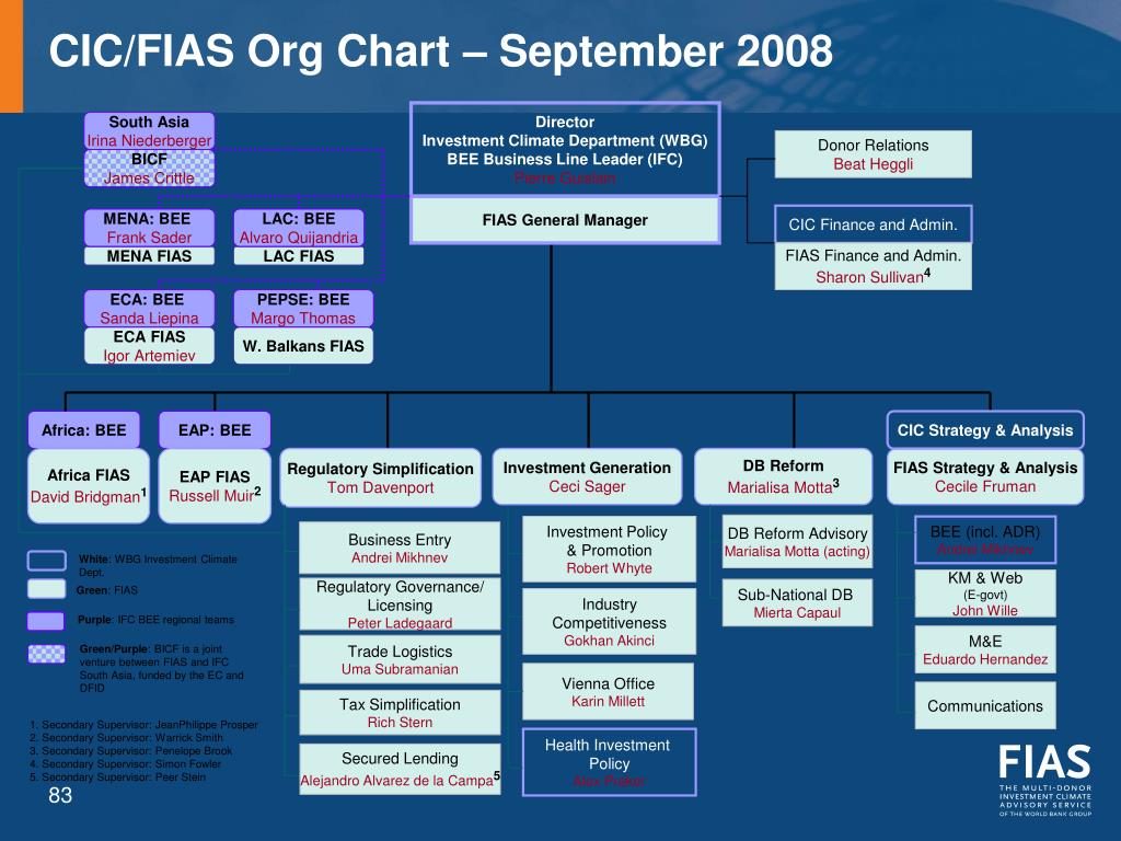 CIC/FIAS Org Chart – September 2008